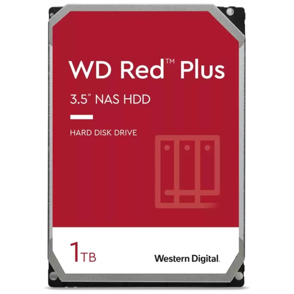 "Disque HDD 3.5"" SATA Western Digital Red Plus NAS, 1To (WD10EFRX)"